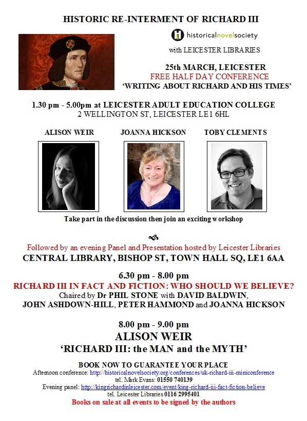Richard III pre-interment event flyer